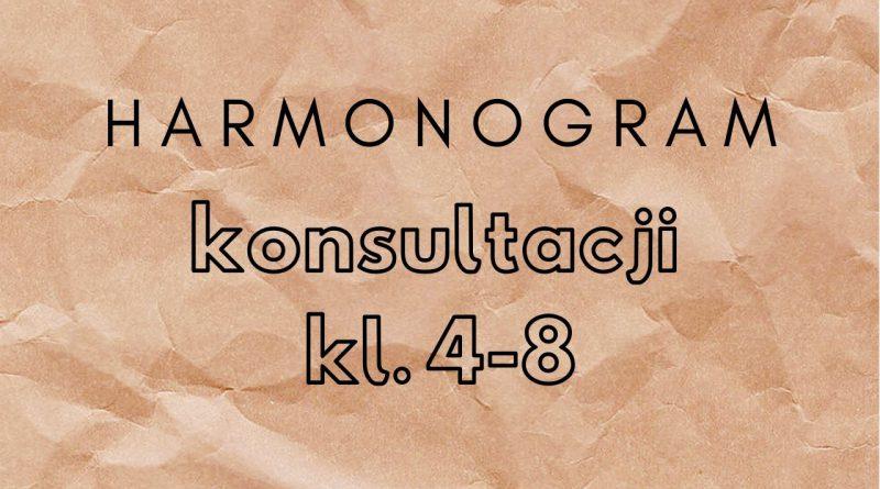 Harmonogram konsultacji, klasy 4-8